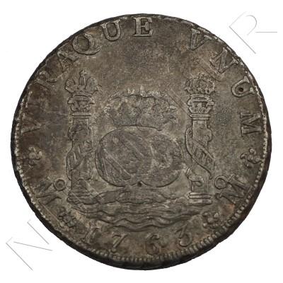 8 reales SPAIN 1763 - Carlos III Mexico