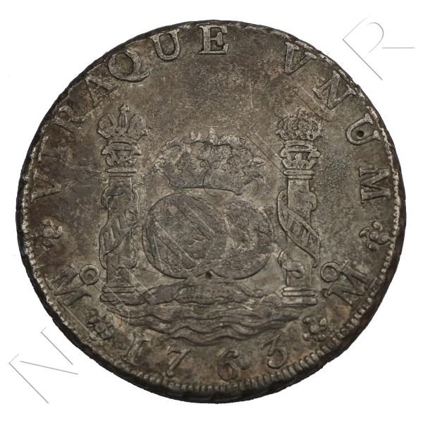 8 reales ESPAÑA 1763 - Carlos III Mexico