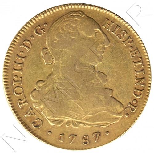 8 escudos ESPAÑA 1787 - MI. Lima (Peru) CARLOS III