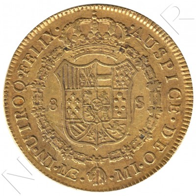8 escudos SPAIN 1787 - MI. Lima (Peru) CARLOS III
