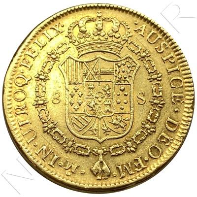 8 escudos SPAIN 1777 - 1776 FM Mexico CARLOS III