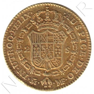 2 escudos ESPAÑA 1790 - MF Madrid Carlos IV