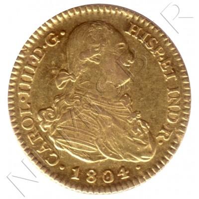 2 escudos ESPAÑA 1804 - FA Madrid Carlos IV
