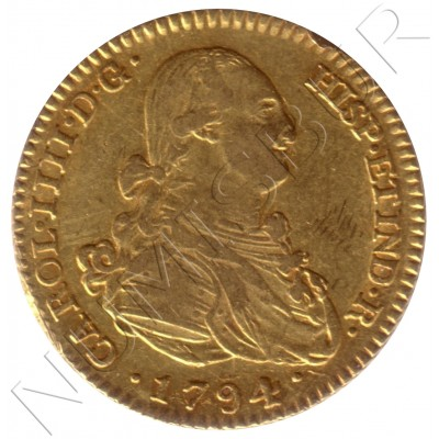 2 escudos ESPAÑA 1794 - MF Madrid Carlos IV