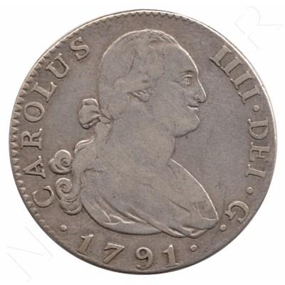 4 reales SPAIN 1791 - Carlos IV MADRID MF
