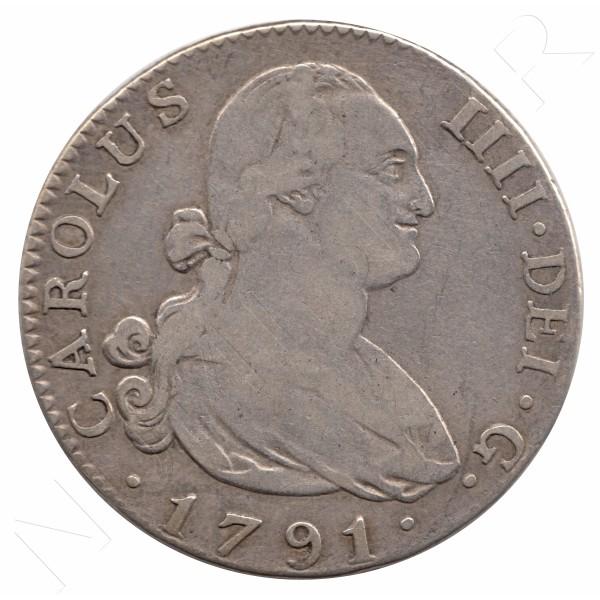 4 reales ESPAÑA 1791 - Carlos IV MADRID MF