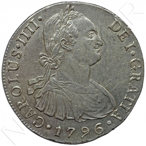 8 reales SPAIN 1796 - I.J LIMA (Peru) Carlos IV