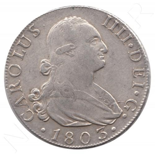 8 reales ESPAÑA 1803 - Carlos IV MADRID FA