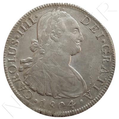 8 reales MEXICO 1804 - Carlos IV MEXICO TH