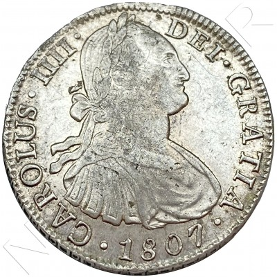 8 reales SPAIN 1807 - Mexico TH (Carlos IV)