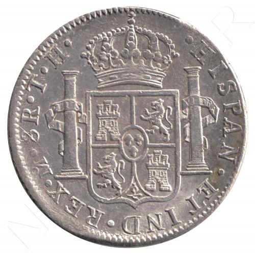 8 reales ESPAÑA 1808 - Carlos IV Mexico TH
