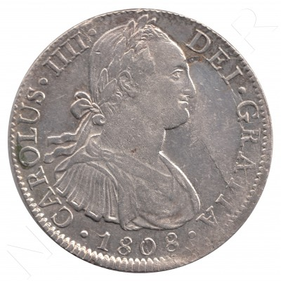 8 reales SPAIN 1808 - Carlos IV Mexico TH