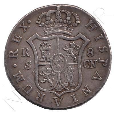 8 reales ESPAÑA 1803 - Carlos IV SEVILLA CN #7