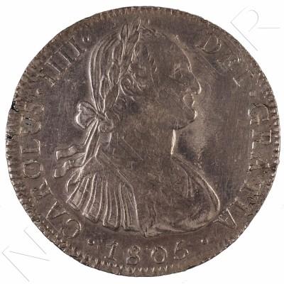 8 reales ESPAÑA 1805 - Carlos IV Mexico TH