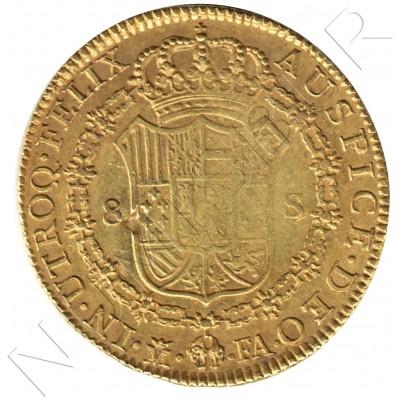 8 escudos SPAIN 1802 - FA Madrid Carlos IV