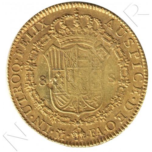 8 escudos ESPAÑA 1802 - FA Madrid Carlos IV