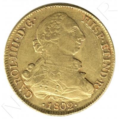 8 escudos SPAIN 1802 - JJ. Santiago de Chile