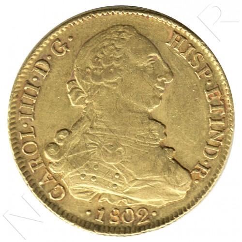 8 escudos ESPAÑA 1802 - JJ. Santiago de Chile
