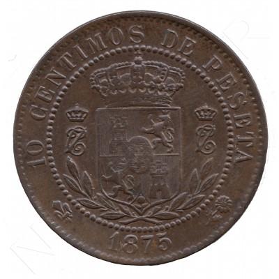 10 centimos ESPAÑA 1875 - Carlos VII OÑATE