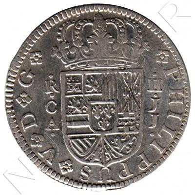 2 reales ESPAÑA 1722 - Felipe V Cuenca JJ