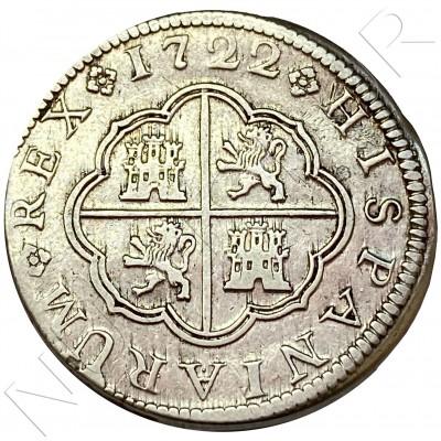 2 reales SPAIN 1722 - Felipe V Cuenca JJ