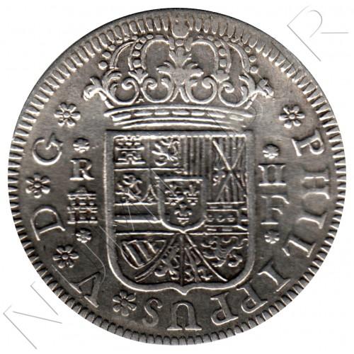 2 reales ESPAÑA 1723 - Felipe V Segovia F