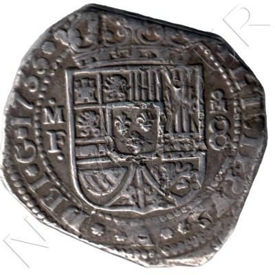 8 reales ESPAÑA 1733 - Felipe V M.F. ceca de Mexico