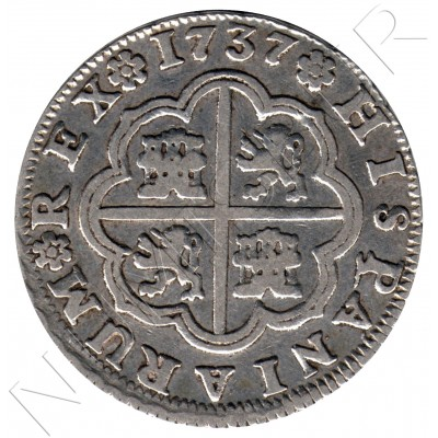 2 reales ESPAÑA 1737 - Felipe V Sevilla PJ