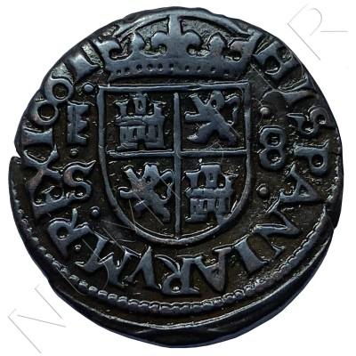 8 maravedies SPAIN 1661 - Segovia S