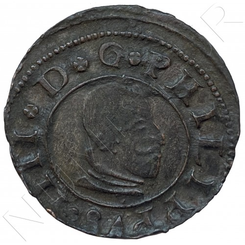 16 maravedies SPAIN 1662 - Madrid (Felipe IV)