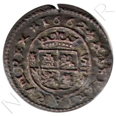 8 maravedies SPAIN 1662 - Felipe IV GRANADA N