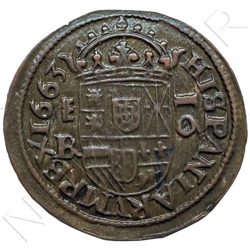 16 maravedíes SPAIN 1663 - Segovia (Felipe IV)