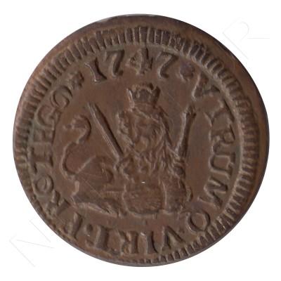 1 maravedi SPAIN 1747 - Fernando VI SEGOVIA