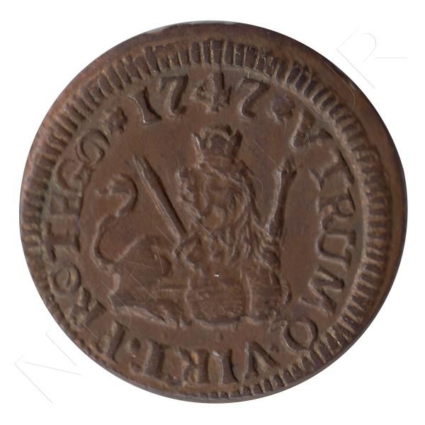 1 maravedi ESPAÑA 1747 - Fernando VI SEGOVIA