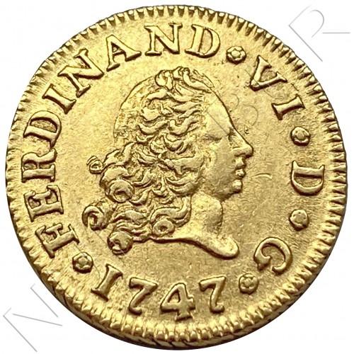 1/2 escudo SPAIN 1747 - Fernando VI MADRID JB