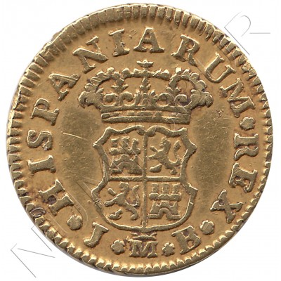 1/2 escudo SPAIN 1756 - Fernando VI MADRID JB