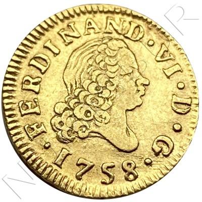 1/2 escudo SPAIN 1758 - MADRID JB