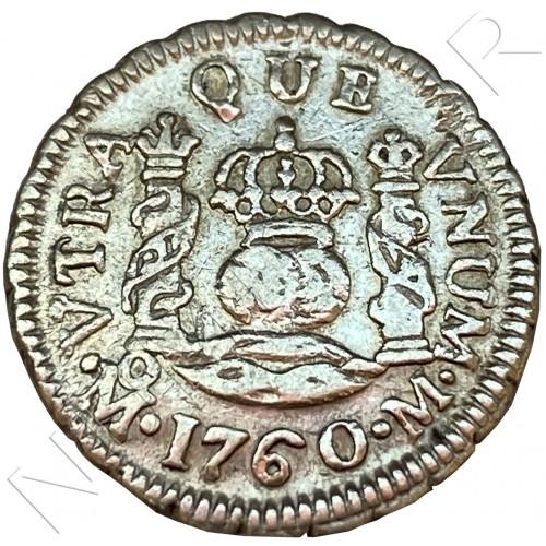 1/2 real SPAIN 1760 - Mexico (Fernando VI)