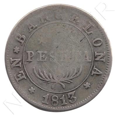 1 peseta ESPAÑA 1813 - BARCELONA