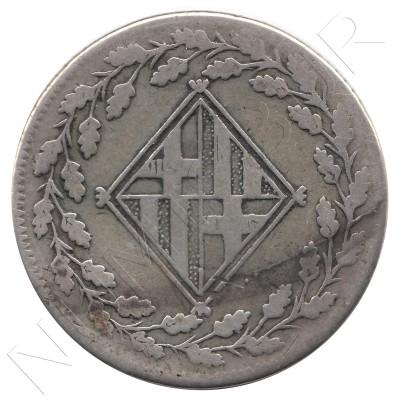1 peseta SPAIN 1813 - BARCELONA