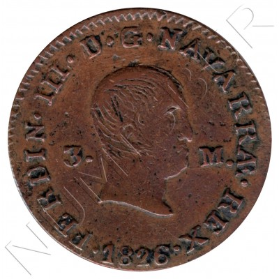 2 maravedies SPAIN 1829 - SEGOVIA Fernando VII