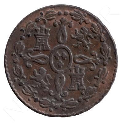 2 maravedies SPAIN 1730 - Fernando VII SEGOVIA #58
