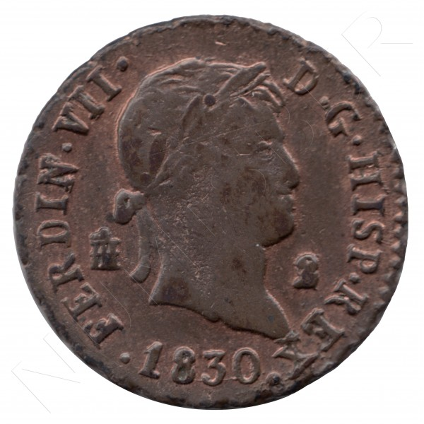 2 maravedies ESPAÑA 1730 - Fernando VII SEGOVIA #58