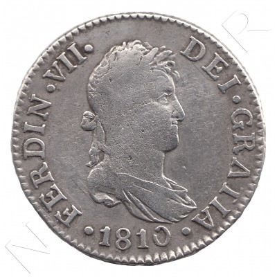 2 reales SPAIN 1810 - Fernando VII CADIZ