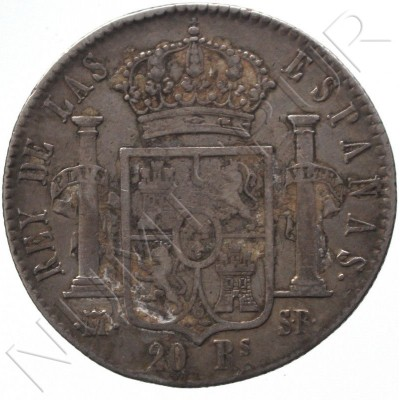 20 reales SPAIN 1823 - Fernando VII MADRID