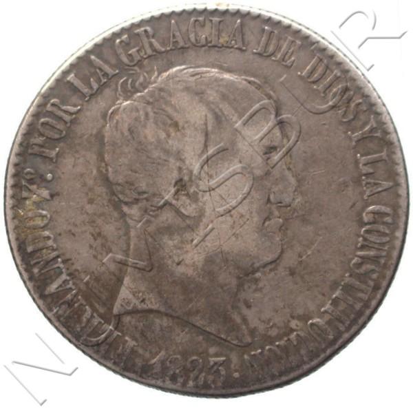 20 reales ESPAÑA 1823 - Fernando VII MADRID