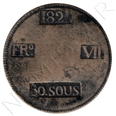 30 sous ESPAÑA 1821 - Palma de Mallorca Fernando VII