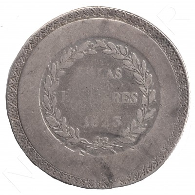 5 pesetas ESPAÑA 1823 - Fernando VII Islas Baleares #17