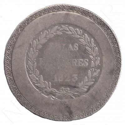 5 pesetas SPAIN 1823 - Fernando VII Islas Baleares