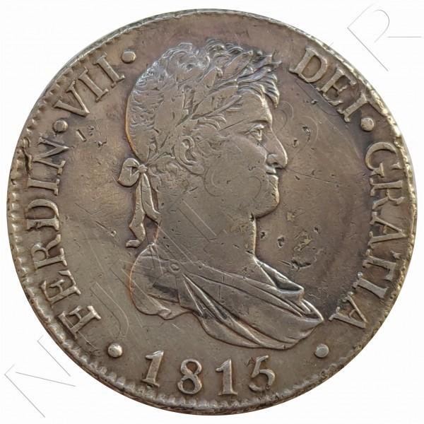 8 reales SPAIN 1815 - Fernando VII Madrid GJ